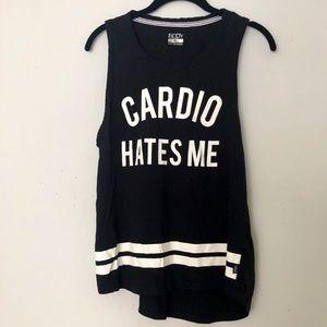 "Cotton On ""Cardio Hates Me"" Hi-Lo Tank"